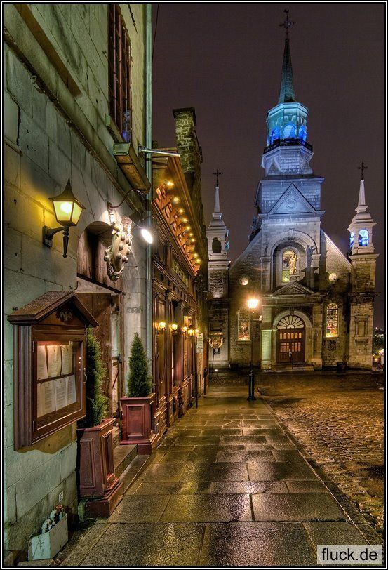 Old Churches and Streets of Montreal - Canada