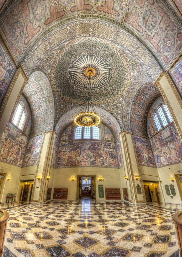 Inside the Richard J. Riordan Central Library.