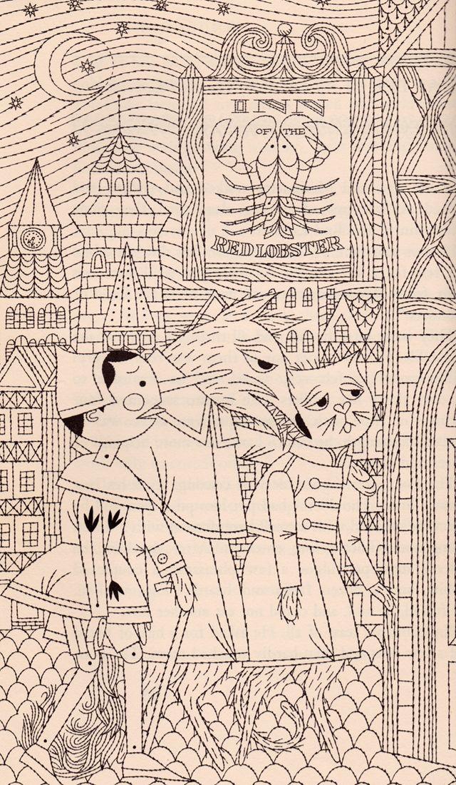 my vintage book collection (in blog form).: The Adventures of Pinocchio - illustrated by Naiad Einsel
