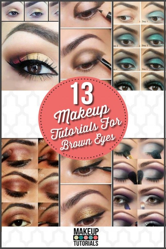 How To Do #Eyeshadow For Brown Eyes, the perfect eyeshadow #makeup tutorials for brown eyes.