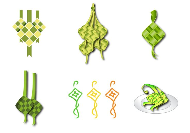 free-ketupat-vector.png (1400×980)