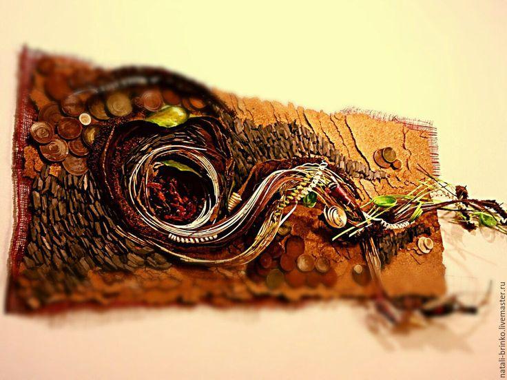 Купить Интерьерное оформление 2 стен флористика  Млечный путь.. - коричневый и бордовый, зеленый и белый