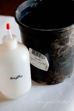 How to paint plastic pots