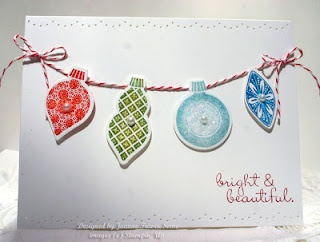 New Stampin' Up Ornament Keepsakes  great class idea