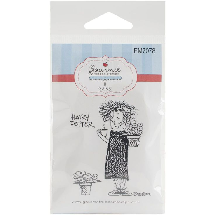 """Gourmet Rubber Stamps Cling Stamps 2.75""""X4.75""""-Hairy Potter"""