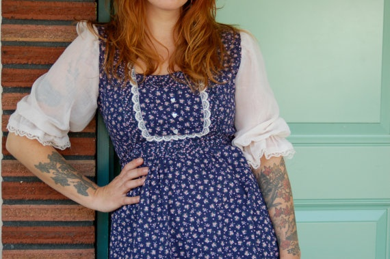 1970s Gunne Sax style Baby Doll Dress by vintagereformer on Etsy, $35.00