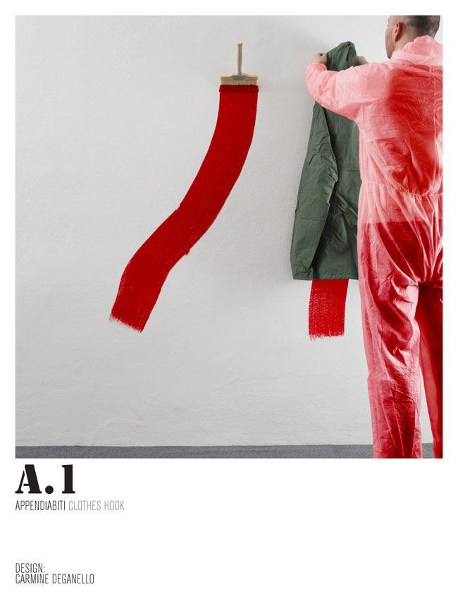 Recession Design 2009-2010. Appendiabiti con pennellessa.
