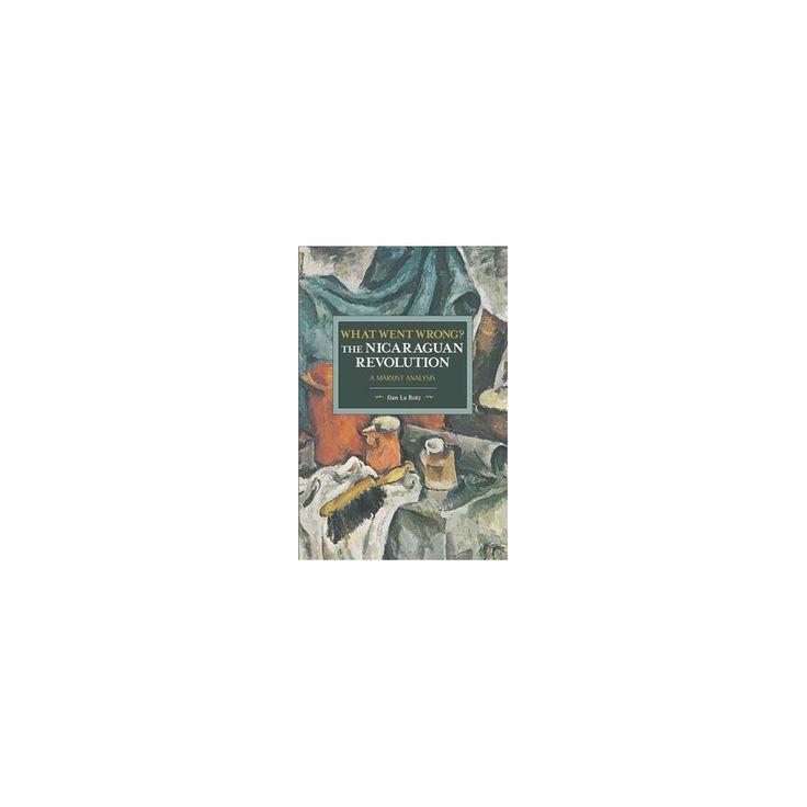 What Went Wrong? : The Nicaraguan Revolution - a Marxist Analysis (Paperback) (Dan LA Botz)