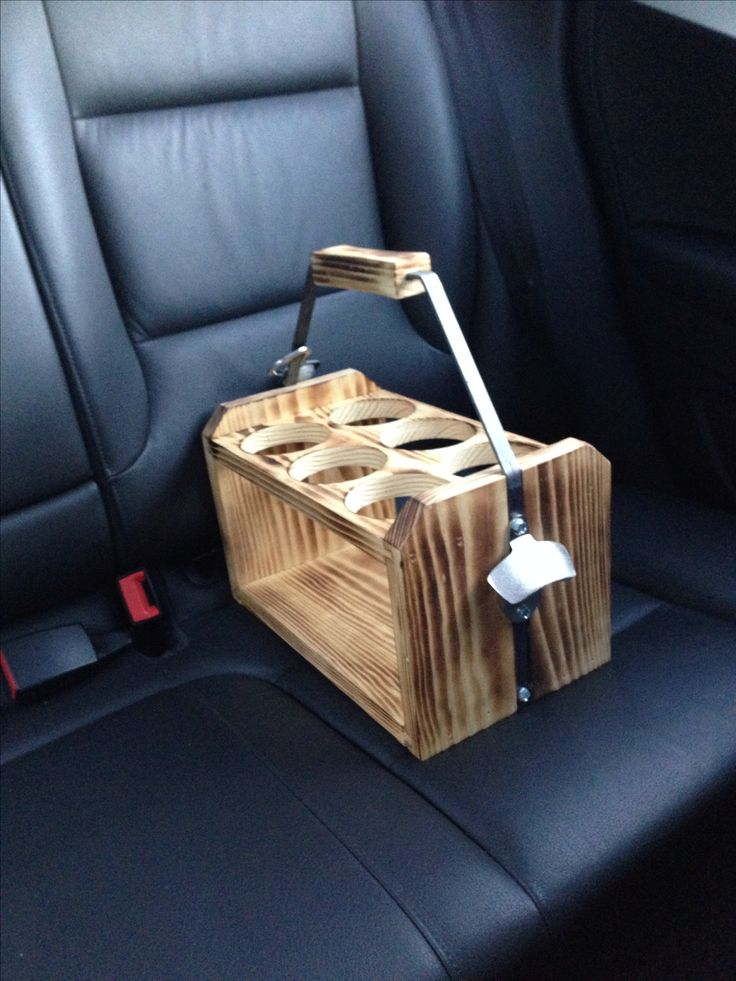 A cool beer essential for the beer geek who wants to make a beer run and tote bottles in a reusable, rustic carrier. - Holds six 22 oz bottles - Approximate dimensions are 8 inches by 14 inches by 14
