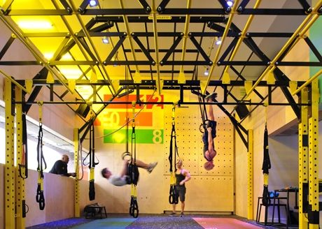 Gymbox - hanging out with mates! And working on my core...