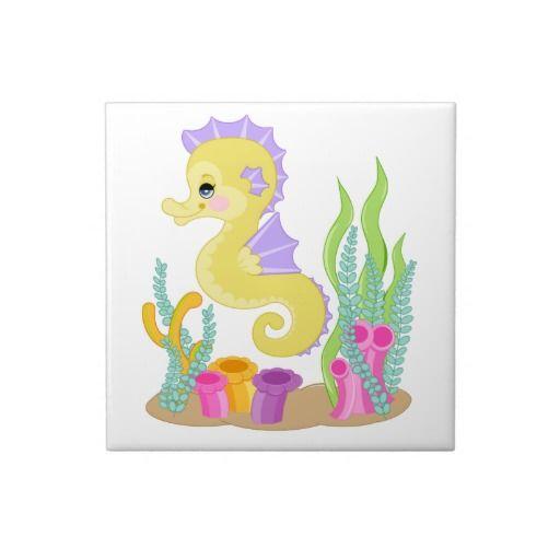 Cute Baby Seahorse Cartoon