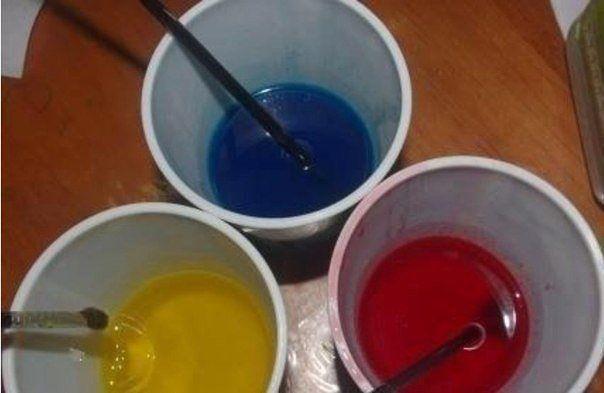 Витражные краски своими руками!