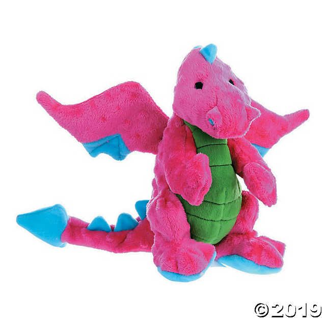 Godog Dragons With Chew Guard Large Pink Toys Help To Ensure