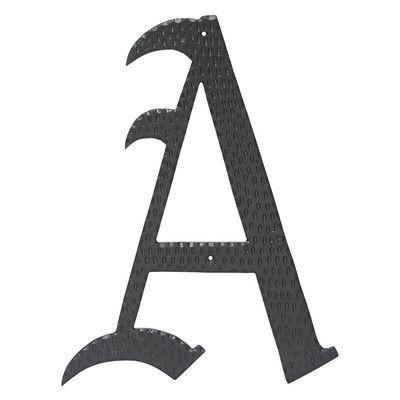 "Montague Metal Products House Letter Finish: Black, Letter: P, Size: 16"""