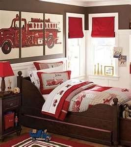 Firetruck themed nursery. Naturally :@)