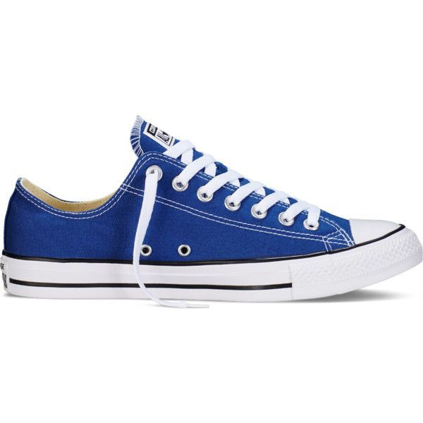 Converse Chuck Taylor All Star Fresh Colors – roadtrip blue Sneakers ($50) ❤ liked on Polyvore featuring shoes, sneakers, roadtrip blue, converse footwear, converse trainers, blue shoes, star sneakers and low top