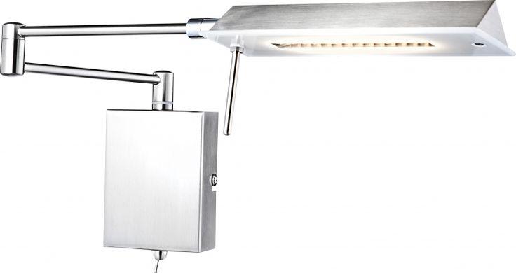 lampa de perete cu brat ajustabil si abajur orientabil RETTANGOLO 56195W marca Globo
