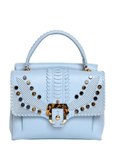 Shop now: Petit Faye: Perspex Top, Tops, Faye Leather, Dream Bags, Leather Handbags, Blue Handbags