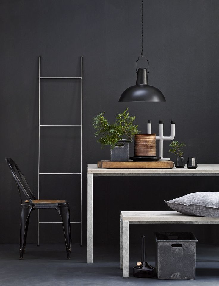 Industrial interior by Anna Malmgren. Color: Diesel, Beckers. Agent Evers. Stylist: Anna Malmgren Photo: Brian Predstrup.