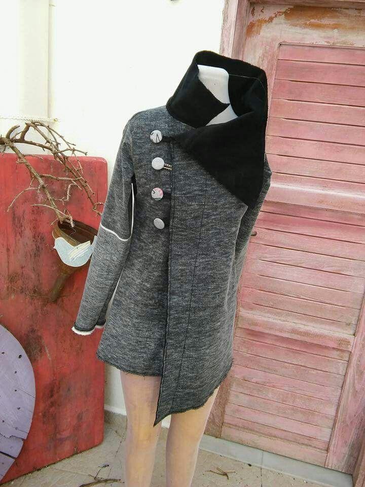 Handmade assymetric cardigan