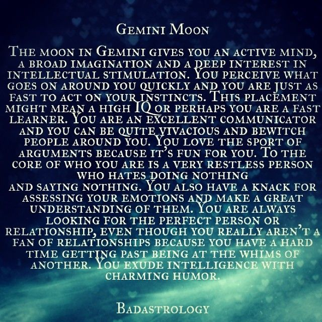 gemini moon. #Zodiac #Astrology For related posts, please check out my FB page: https://www.facebook.com/TheZodiacZone