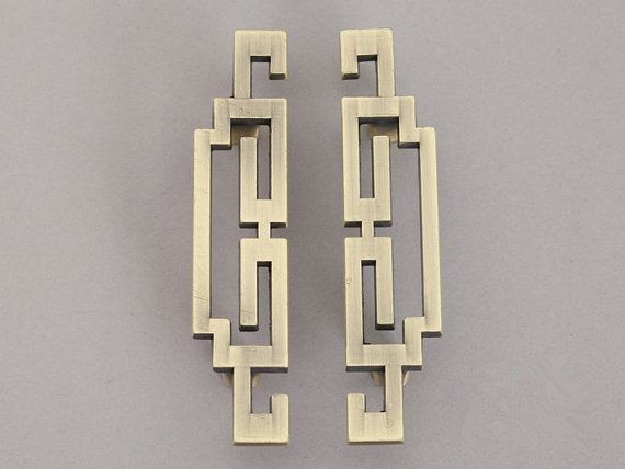 Pair of Vintage Style Cabinet Door Handles Pulls Antique Bronze Dresser Pulls…