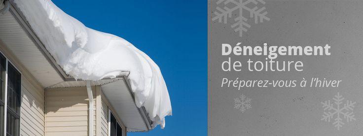 Déneigement de toiture Québec , Déneigement de toiture Soumission gratuite sur notre site web!