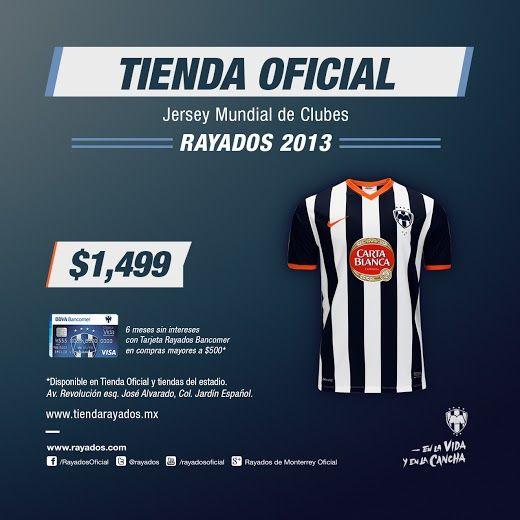 ¡Ven por tu Jersey del #MundialDeClubes! #Rayados #Futbol #Soccer #mexico #monterrey