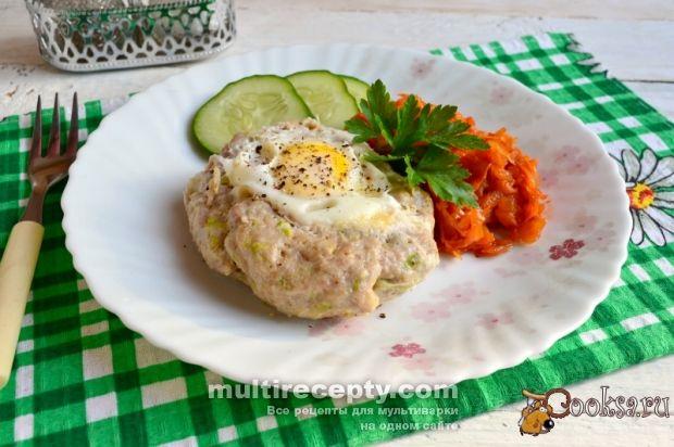 """Свиной """"шницель"""" с сыром и яйцом в мультиварке » Рецепты для мультиварки с фото, самая большая база вкусных блюд для мультиварки"""