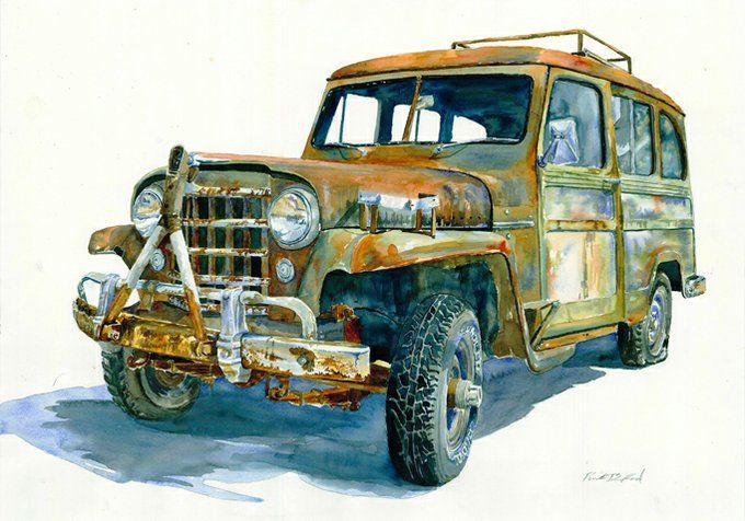 Jeep Willys Canvas Etsy