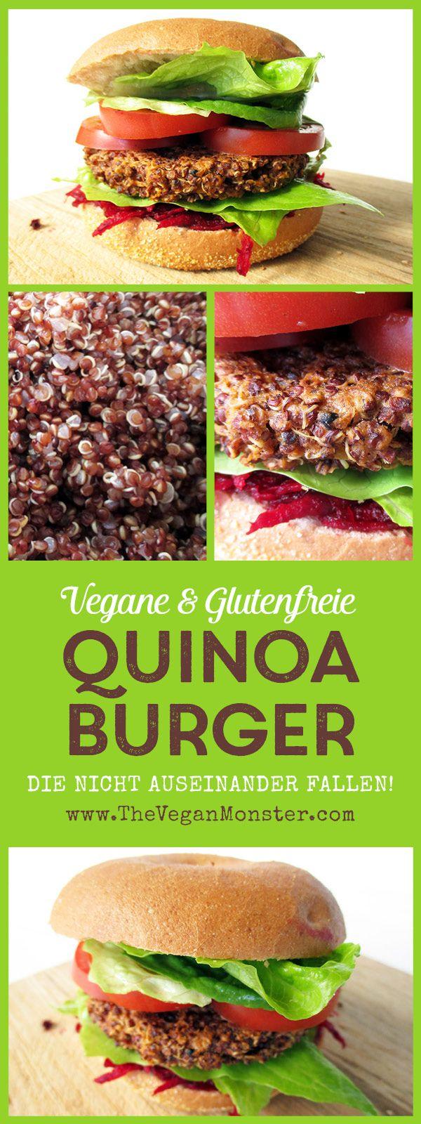 Quinoa Burger, Die Nicht Auseinander Fallen (Vegan, Glutenfrei)