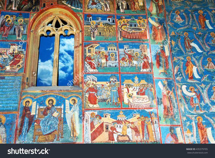 stock-photo-voronet-monastery-october-orthodox-painting-of-voronet-monastery-painted-wall-unesco-435379705.jpg (1500×1099)