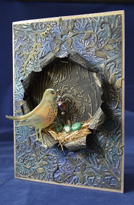 Izzwizz Creations: Feather Your Nest  Oh this is really something else - I think this must be one of the most wonderful cards I've ever seen.