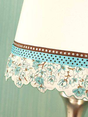 Decorate a plain lamp shade
