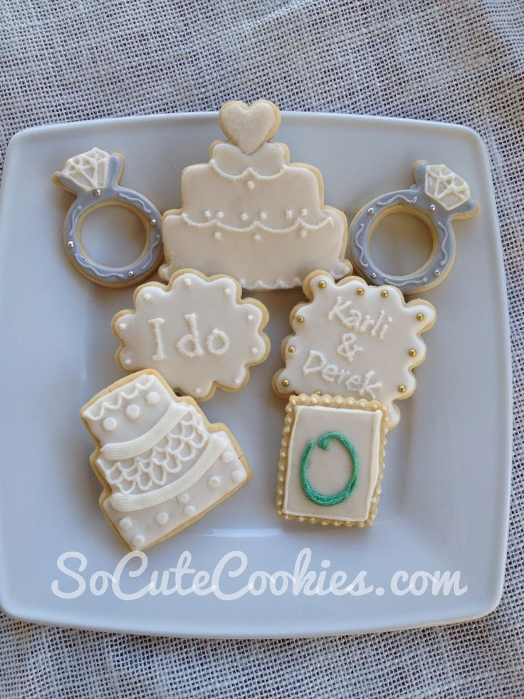 Cakes and rings and monograms