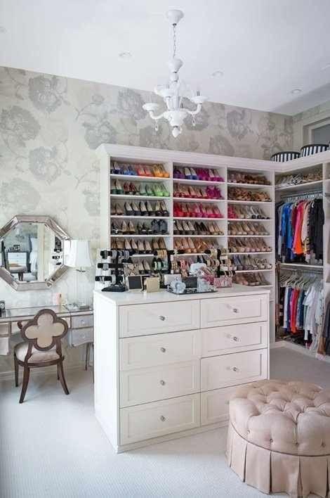 Dressing room ideas/organization