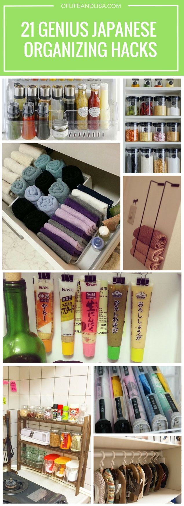Small space organizing hacks inspired by Japanese natives.