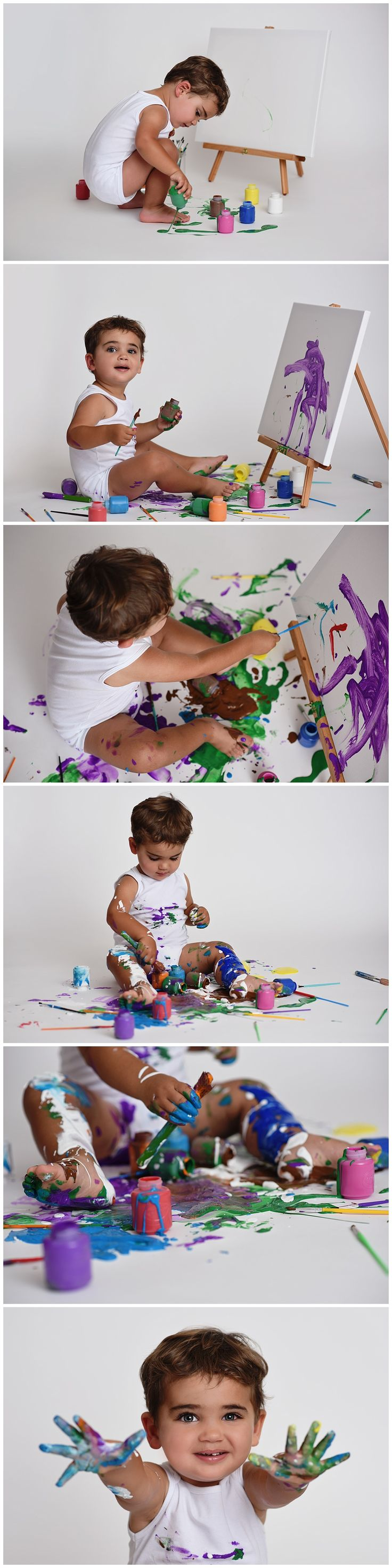 paint splash session, two year old, second birthday, ideas, inspiration, paint, painting, studio photography, 11 sixteen photography
