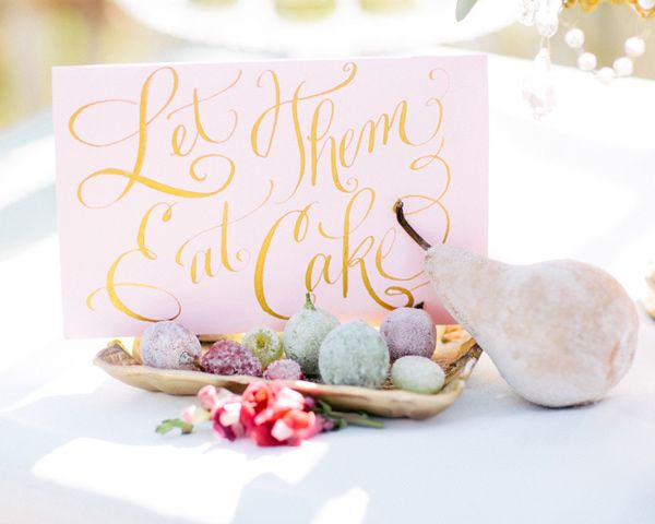 pink paper goods - photo by Rachel May Photography http://ruffledblog.com/modern-marie-antoinette-wedding-ideas