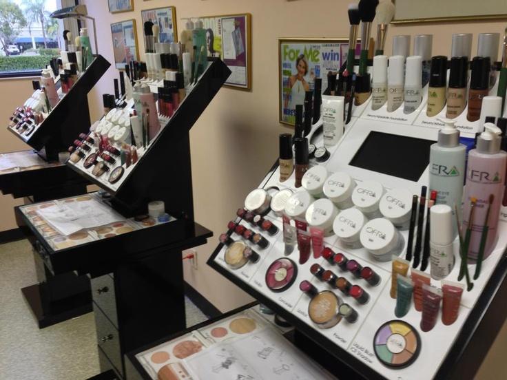 The Ofra Cosmetics Store and Salon Displays http://ofracosmetics.com/make-upportfolios.aspx