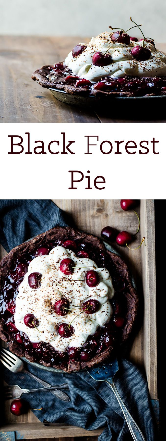A gorgeous black forest pie that is simple and utterly irresistible.