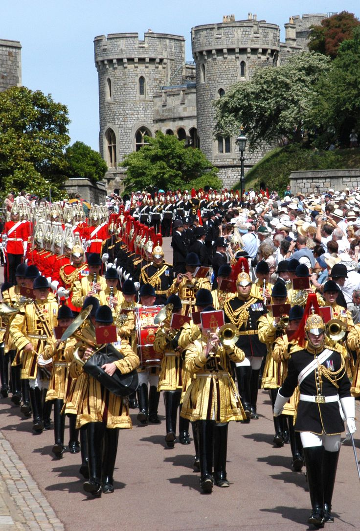 The annual Order of the Garter service at Windsor Castle  © Buckingham Palace Press Office