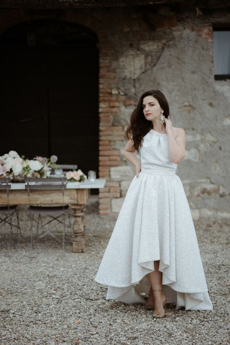 Brides don't always want the traditional dress, some brides are opting for a much more untraditional. 'Clò' high-low wedding dress by MARIANNA LANZILLI