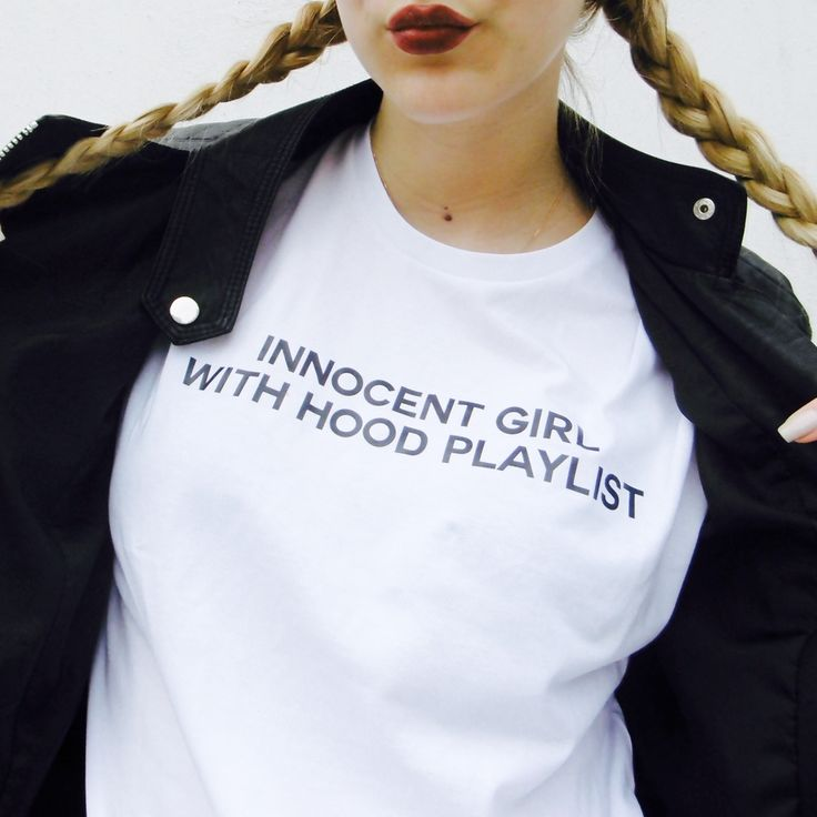 Wild Rose Store                  - Innocent Girl With A Hood Playlist Tee