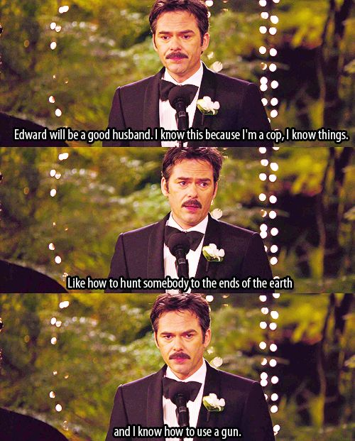 I'm NOT a Twilight fan but this will def be my father's speech...and a part of me hopes so!