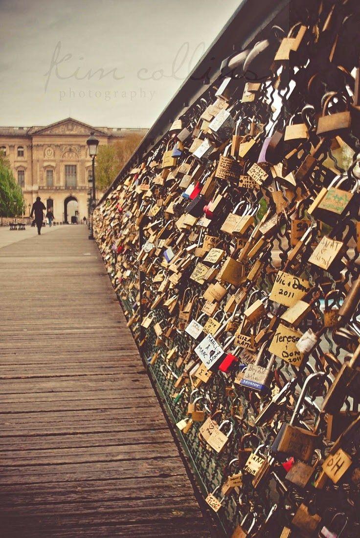 Love-Locks Bridge, Paris, France