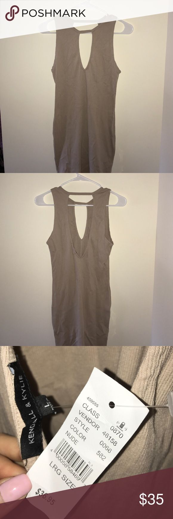 Kendall & Kylie Nude Dress Kendall & Kylie nude dress from PacSun. Wear it with a sticky bra. Worn once! Kendall & Kylie Dresses Backless