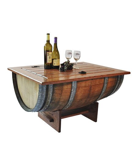 Wine Barrel Coffee Table - crafted from a vintage French wine barrel.