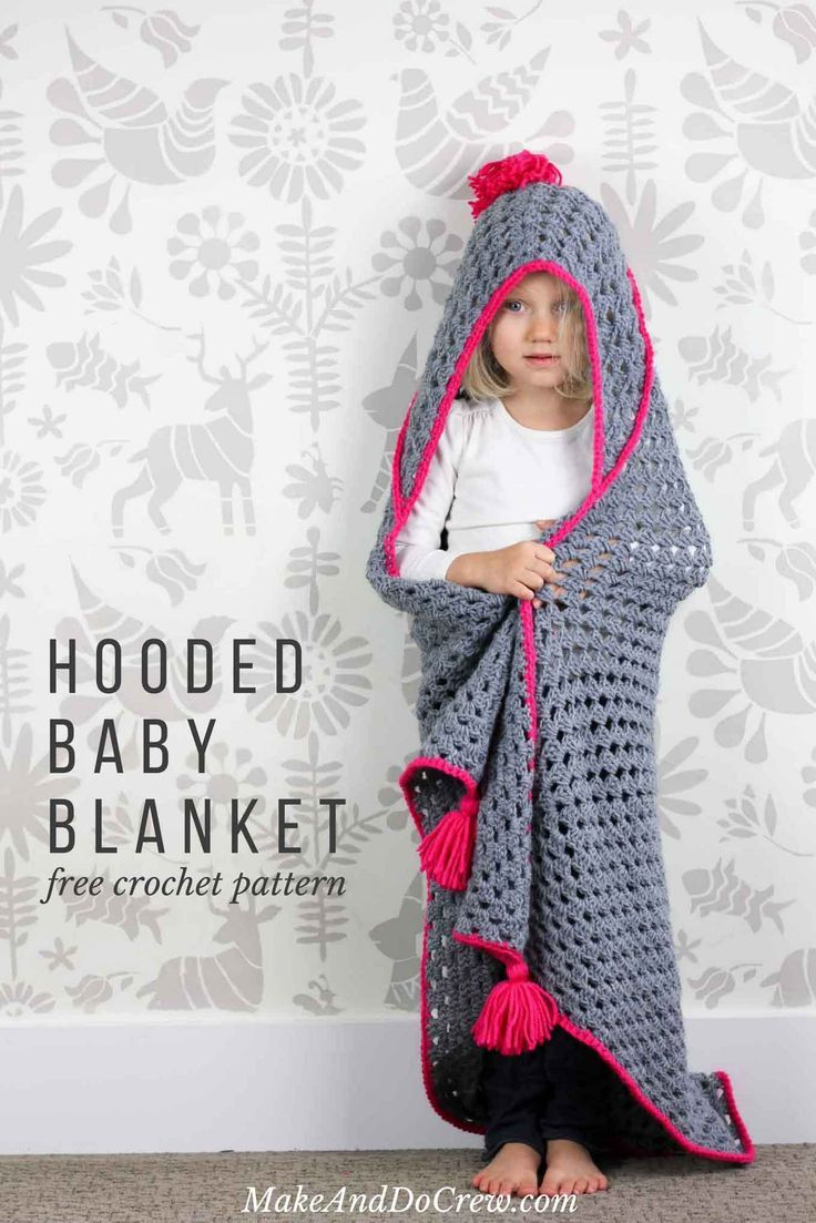 Knitting Pattern Baby Hooded Blanket : 241 best images about Crochet Kids Afghans,Throws on Pinterest Free pattern...