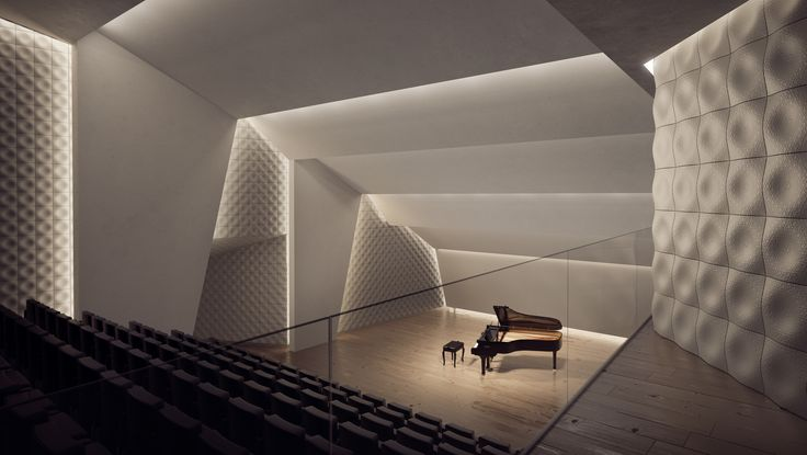 'Ster' concrete tile design for a concert hall I KAZA Concrete